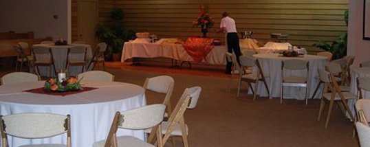 Preparing for a memorial service followed by a catered reception